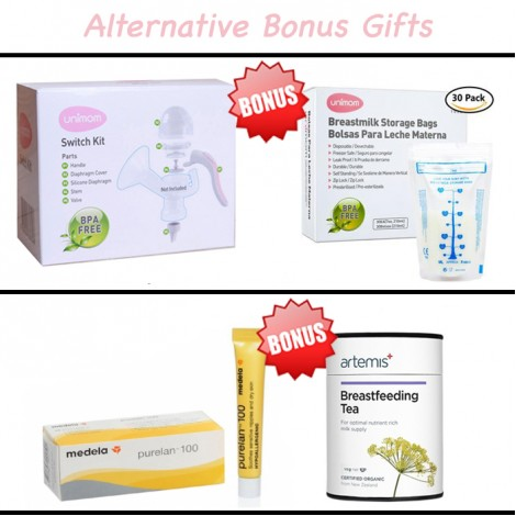 Unimom Forte Breast Pump & Bonus Gifts