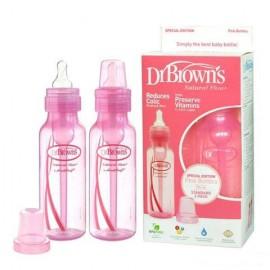 Dr Brown's Natural Flow Special Edition Pink 250ml Bottles (Pack of 2) + Teats