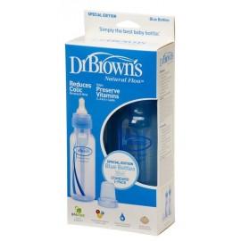 Dr Brown's Natural Flow Special Edition Blue 250ml Bottles (Pack of 2) + Teats