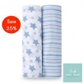 Aden + Anais Prince Charming - Classic Swaddles (2 Pack)