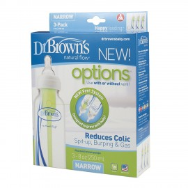 Dr Brown's Natural Flow Options 250ml Bottles (Pack of 3)