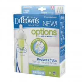 Dr Brown's Natural Flow Options 250ml Bottles (Pack of 3) Pack