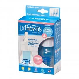 Dr Browns Natural Flow Standard Narrow 60ml Baby Bottles Preemie (Pack of 2)