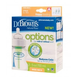 Dr Brown's Natural Flow Options 150ml Bottles (Pack of 2) Pack