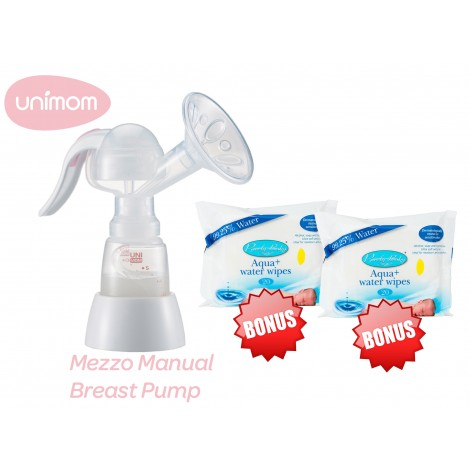 Unimom Mezzo Manual Breast Pump + Bonus Gifts