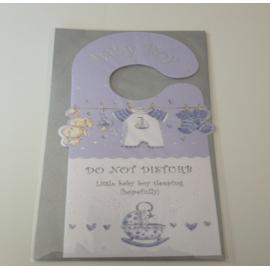Baby Boy card - Do not disturb!