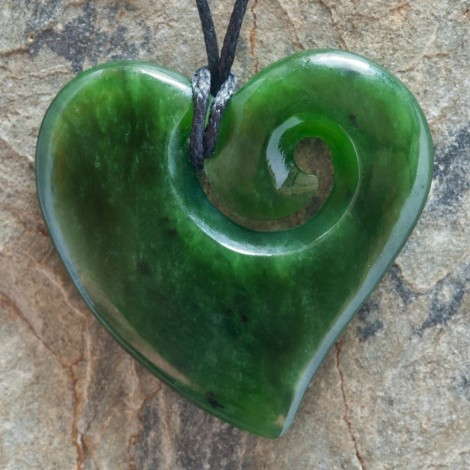 Jade Heart Koru by Ewan Parker & Wayne Turnbull