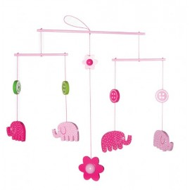 Lily & George Elephant Mobile  - from Birth