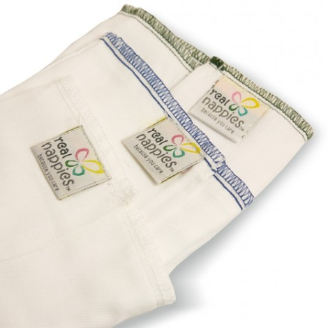 Real Nappies - Cotton Nappy Prefolds (6 Pack)