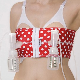 PumpEase Hands Free Pumping Bra - T Bird Red