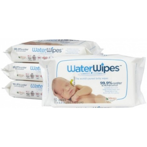 Water Wipes - 4 packs of 60 Wipes (240 wipes total)