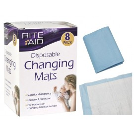 Rite Aid Disposable Changing Mats (8 in a Pack)
